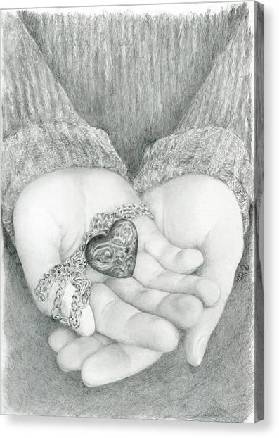 Canvas Print - The Shape Of My Heart by Bitten Kari