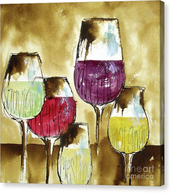 Canvas Print - The Shape Of Wine 1 by Chris Paschke