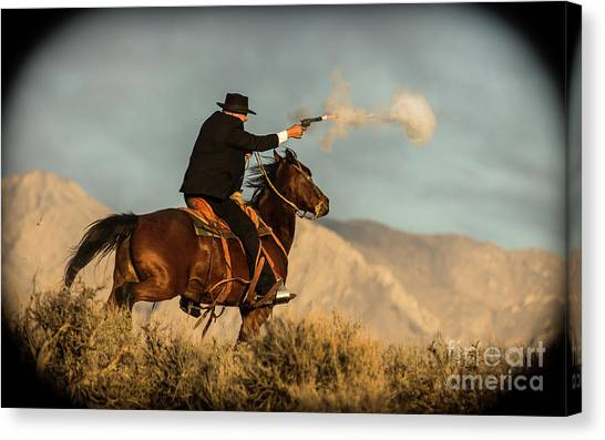The Sharp Shooter Western Art By Kaylyn Franks Canvas Print