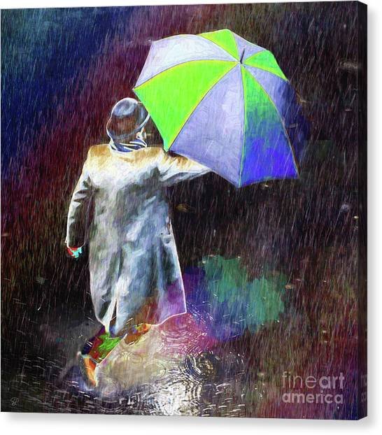The Sheer Joy Of Puddles Canvas Print