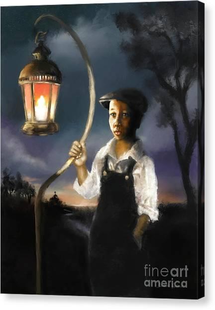 Canvas Print featuring the digital art The Shepherd  by Dwayne Glapion