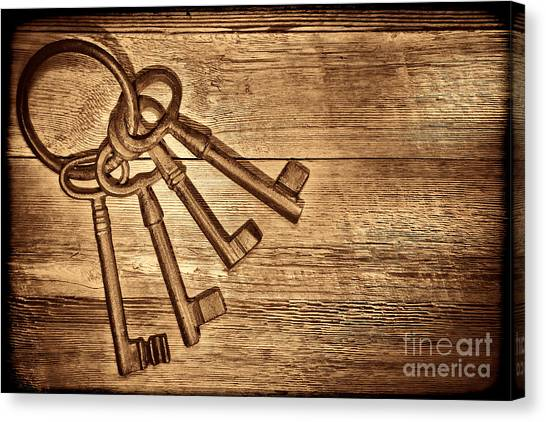 The Sheriff Jail Keys Canvas Print
