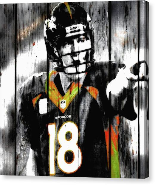 John Elway Canvas Print - Peyton Manning Last Rodeo by Brian Reaves