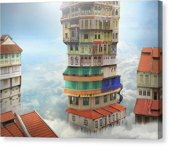 The Shop Towers Canvas Print