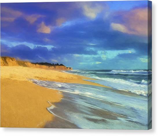 The Shoreline At Half Moon Bay Canvas Print