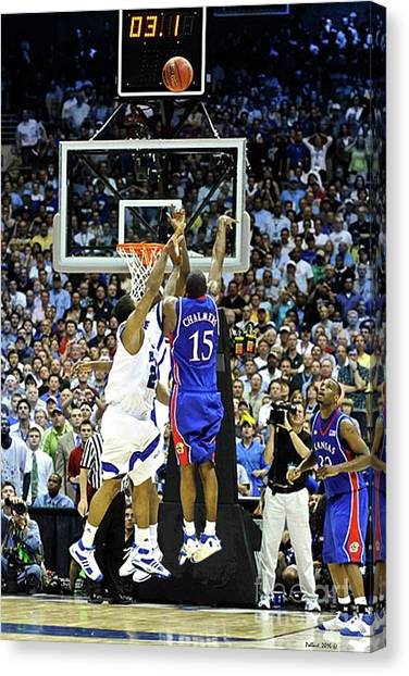 Larry Bird Canvas Print - The Shot, 3.1 Seconds, Mario Chalmers Magic, Kansas Basketball 2008 Ncaa Championship by Thomas Pollart