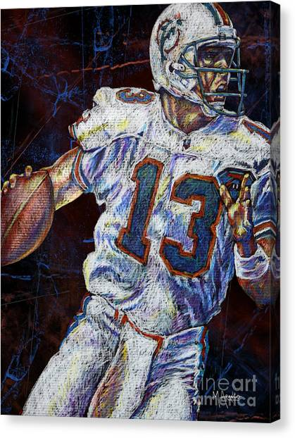Dan Marino Canvas Print - The Shotgun by Maria Arango