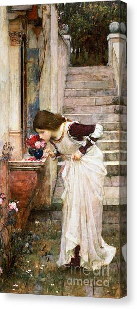 Roses Canvas Print - The Shrine by John William Waterhouse