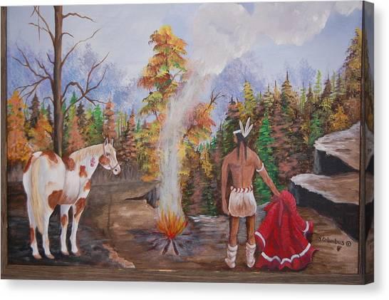 The Signal Canvas Print by Janna Columbus