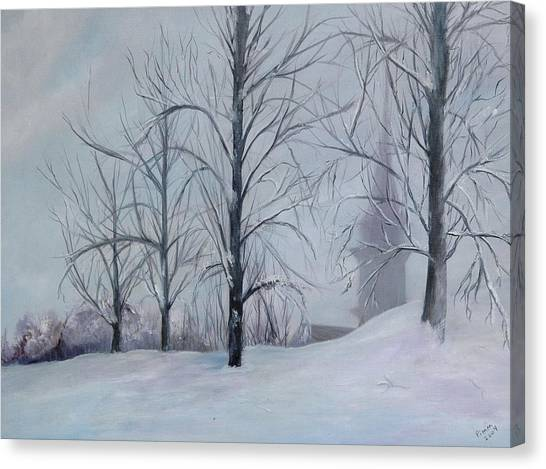 The Silence Of Snow Canvas Print by Betty Pimm