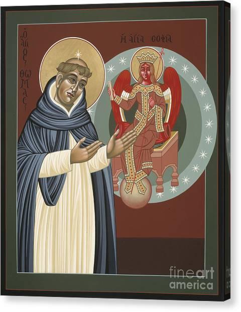 The Silence Of St Thomas Aquinas 097 Canvas Print
