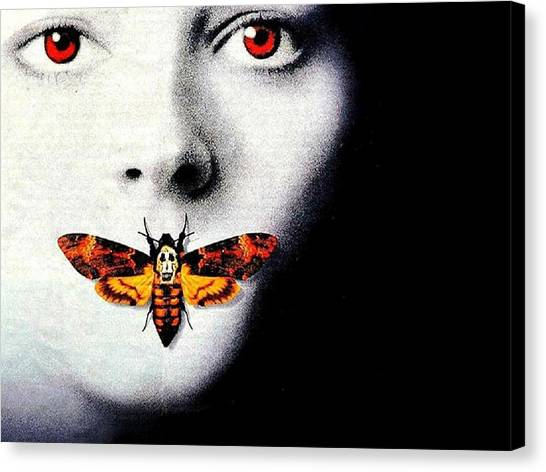 Silence Of The Lambs Canvas Print - The Silence Of The Lambs by Tatiania Laning