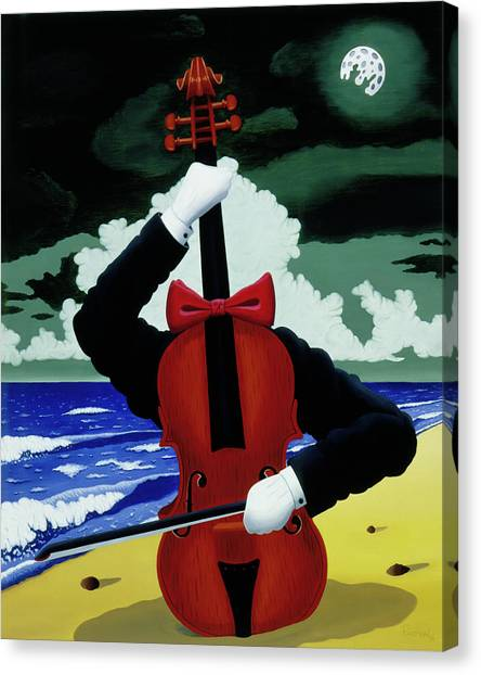 Canvas Print featuring the painting The Silent Soloist by Paxton Mobley