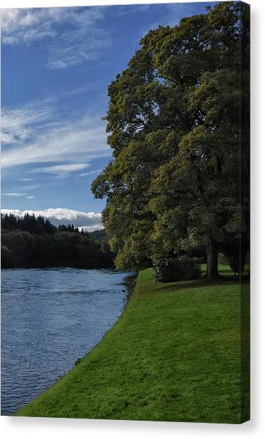 The Silvery Tay By Dunkeld Canvas Print