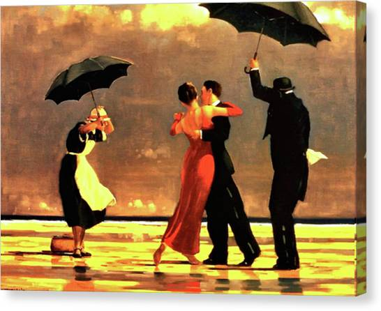 Late Canvas Print - The Singing Butler by Jack Vettriano