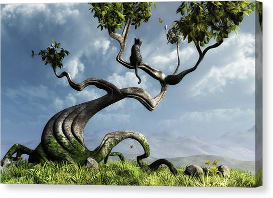 Horizontal Canvas Print - The Sitting Tree by Cynthia Decker