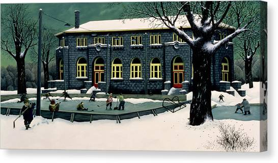 Big Sister Canvas Print - The Skaters by Stephane Poulin