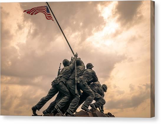 The Skies Over Iwo Jima Canvas Print