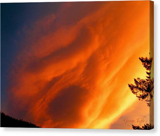 The Sky Is Burning Canvas Print