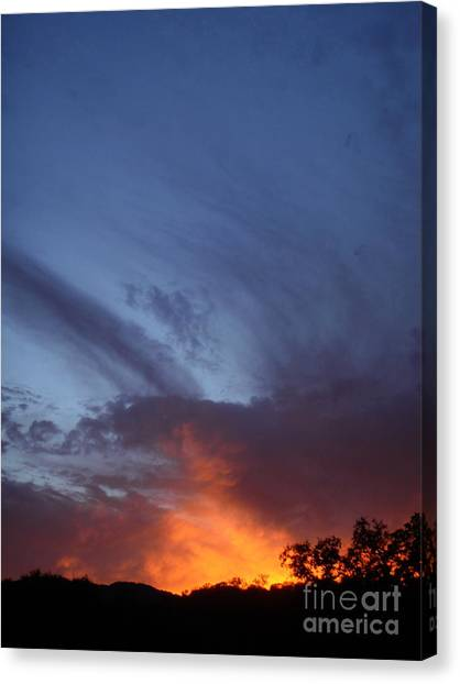 The Sky Is On Fire  Canvas Print by Cullen Knappen