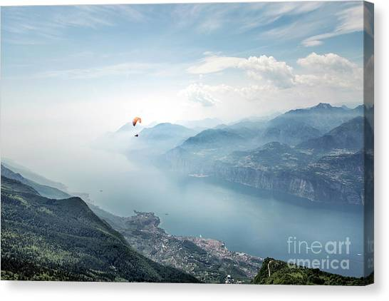 Altitude Canvas Print - The Sky Is The Limit by Evelina Kremsdorf