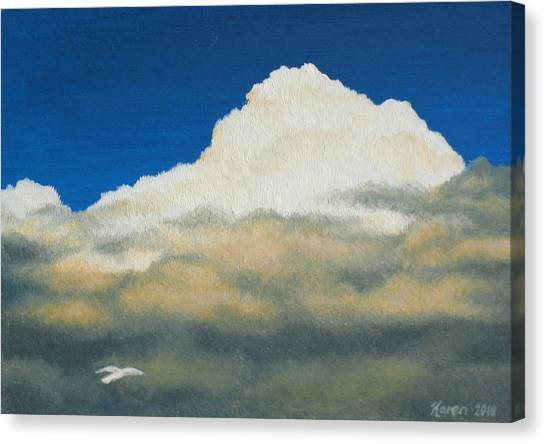 Rainclouds Canvas Print - The Sky's The Limit by Karen Coombes