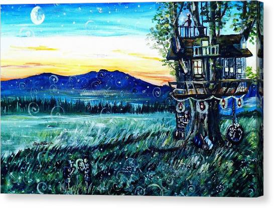 The Sleepover Canvas Print