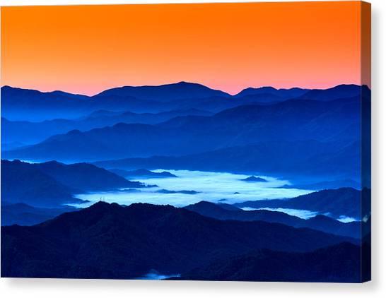Smokey Mountains Canvas Print - The Smokies Before Dawn by Rick Berk