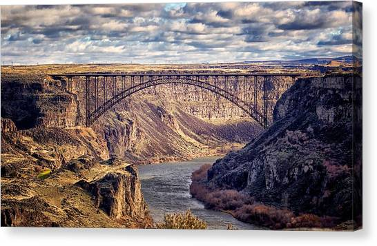 The Snake River At Twin Falls Idaho Canvas Print