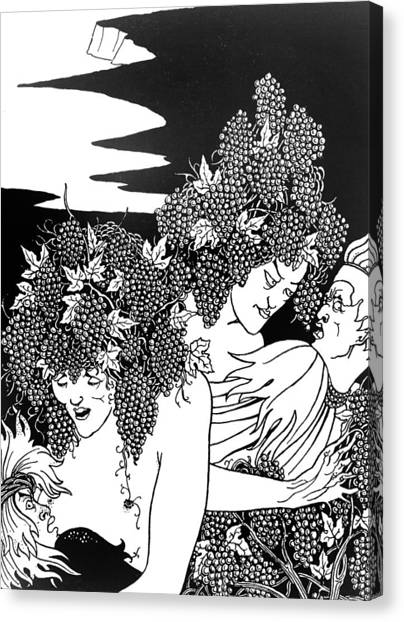 Snares Canvas Print - The Snare Of Vintage by Aubrey Beardsley