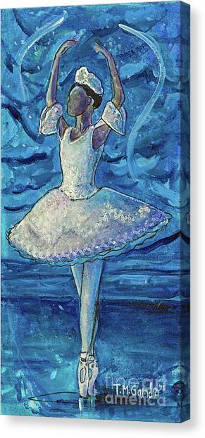 Canvas Print featuring the painting The Snow Queen by TM Gand