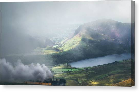 Snowdon Canvas Print - The Snowdon Express by Chris Fletcher