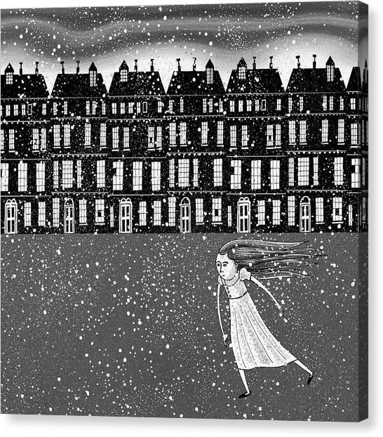 Snowflakes Canvas Print - The Snowstorm  by Andrew Hitchen