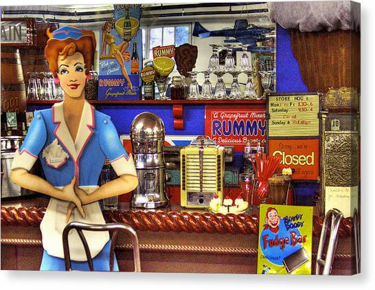 Jukebox Canvas Print - The Soda Fountain by David Patterson