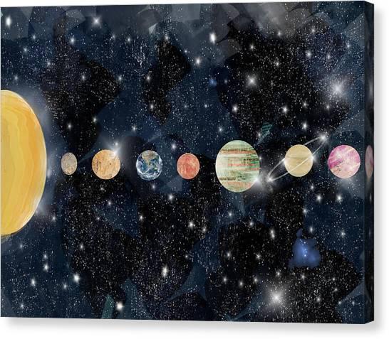 Astrology Canvas Print - The Solar System by Bleu Bri