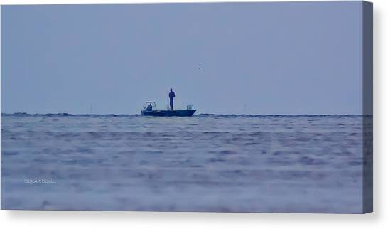 John Boats Canvas Print - The Soloist by DigiArt Diaries by Vicky B Fuller