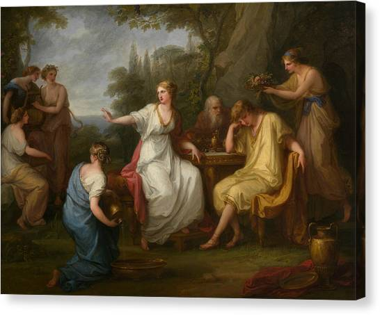Neoclassical Art Canvas Print - The Sorrow Of Telemachus by Treasury Classics Art
