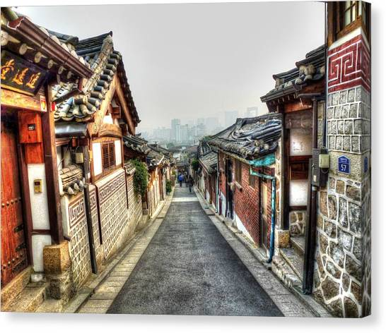 Korean Canvas Print - The Soul Of Seoul by Michael Garyet