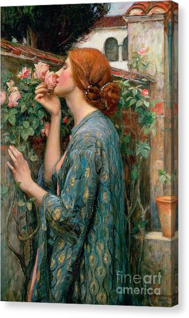 Woman Canvas Print - The Soul Of The Rose by John William Waterhouse