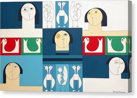 The Sound Of Birds Canvas Print by Hildegarde Handsaeme