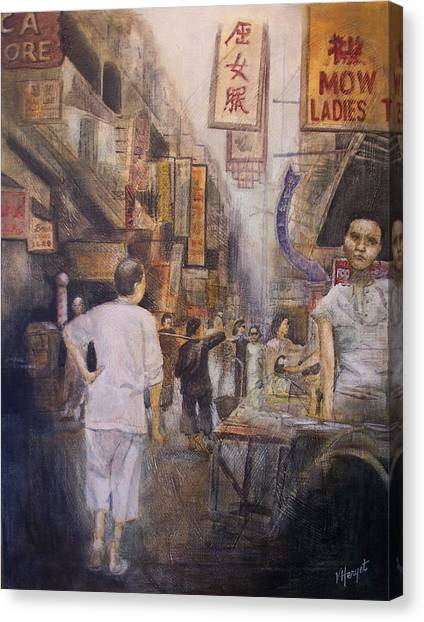 The Soup Seller Canvas Print by Victoria Heryet
