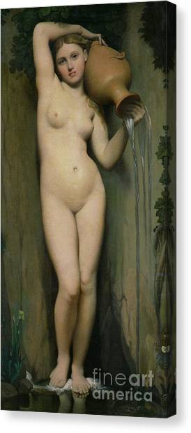 Tumbling Canvas Print - The Source by Ingres