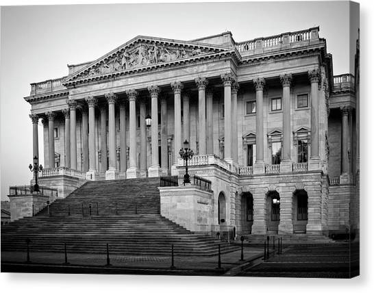 The South End In Black And White Canvas Print
