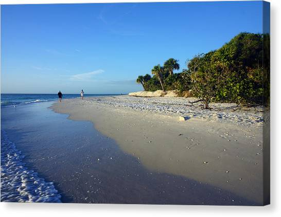 The South End Of Barefoot Beach In Naples, Fl Canvas Print