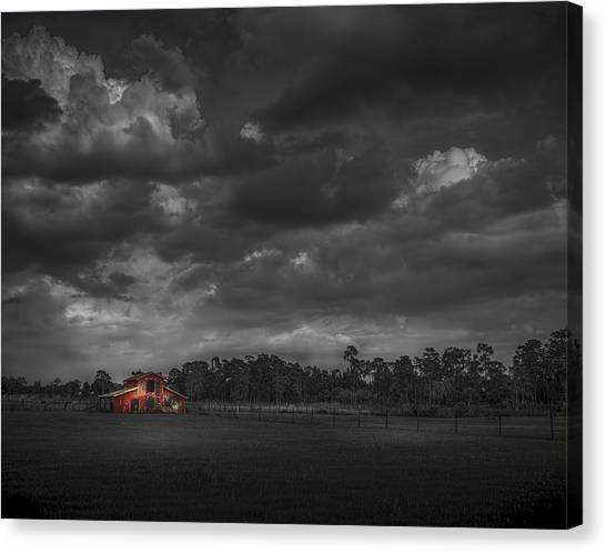 Horse Farms Canvas Print - The South Forty by Marvin Spates