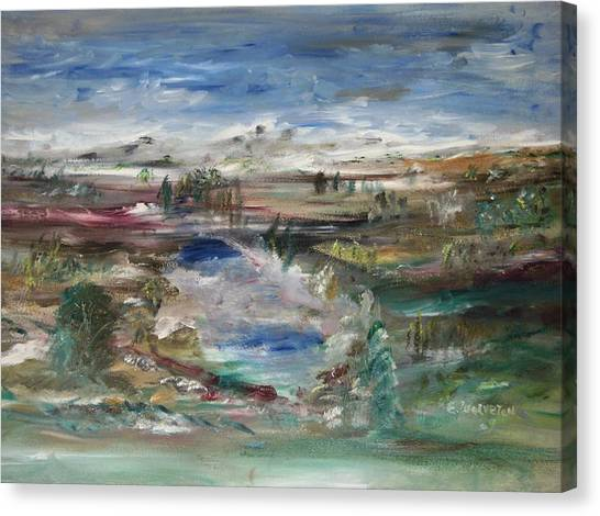 The Southfork Pond Canvas Print by Edward Wolverton