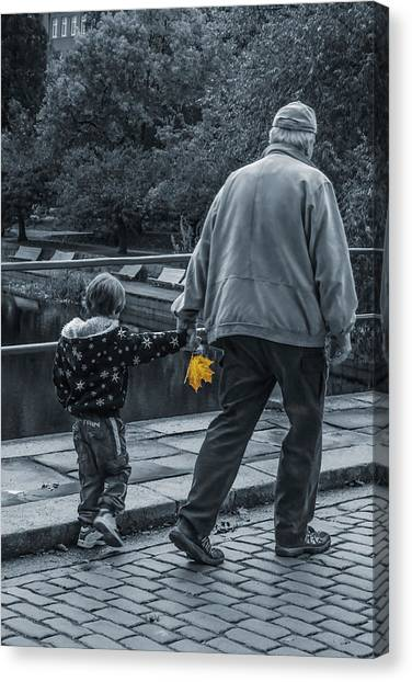 Grandpa Canvas Print - The Souvenir  by Maggie Terlecki