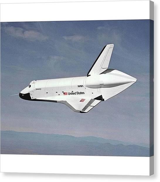 Space Shuttle Canvas Print - The Space Shuttle Enterprise Was The by Dominik Hofer