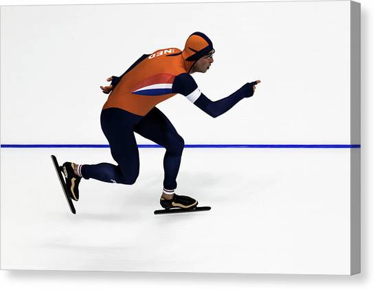 Speed Skating Canvas Print - The Speed by Peteris Vaivars