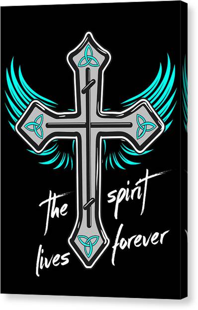 Celtic Art Canvas Print - The Spirit Lives Forever II by Melanie Viola